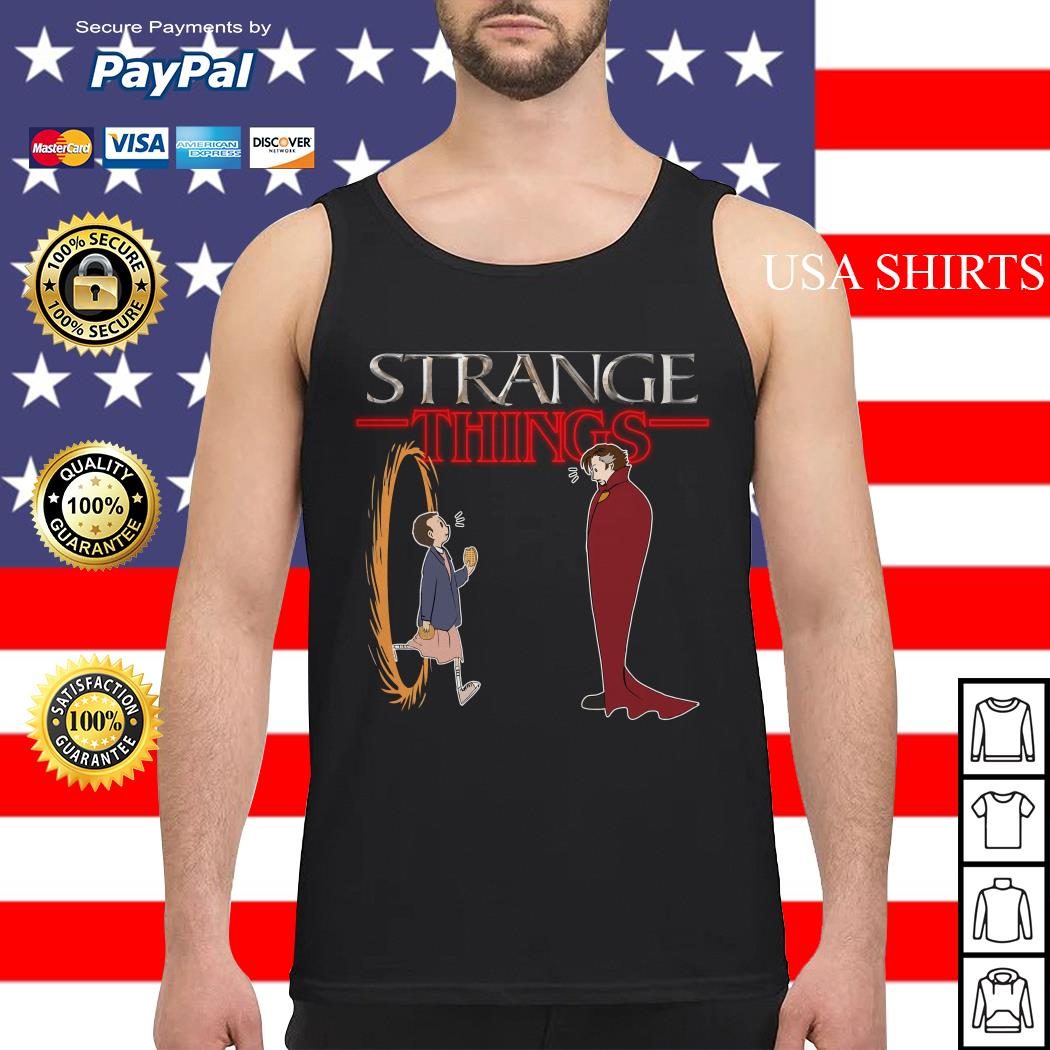 Stranger Things funny mashup Strange Things Doctor Strange Tank top