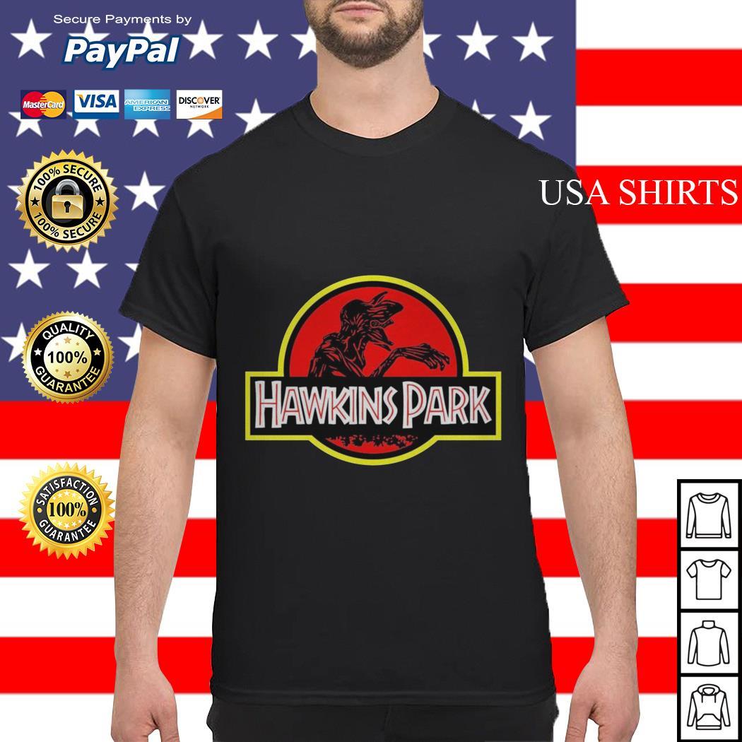 Stranger Things hawkins Park Jurassic Park shirt