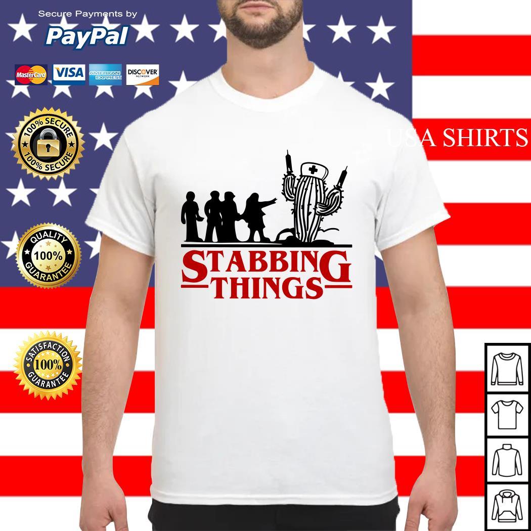 Stranger Things Stabbing Things nurse cactus shirt