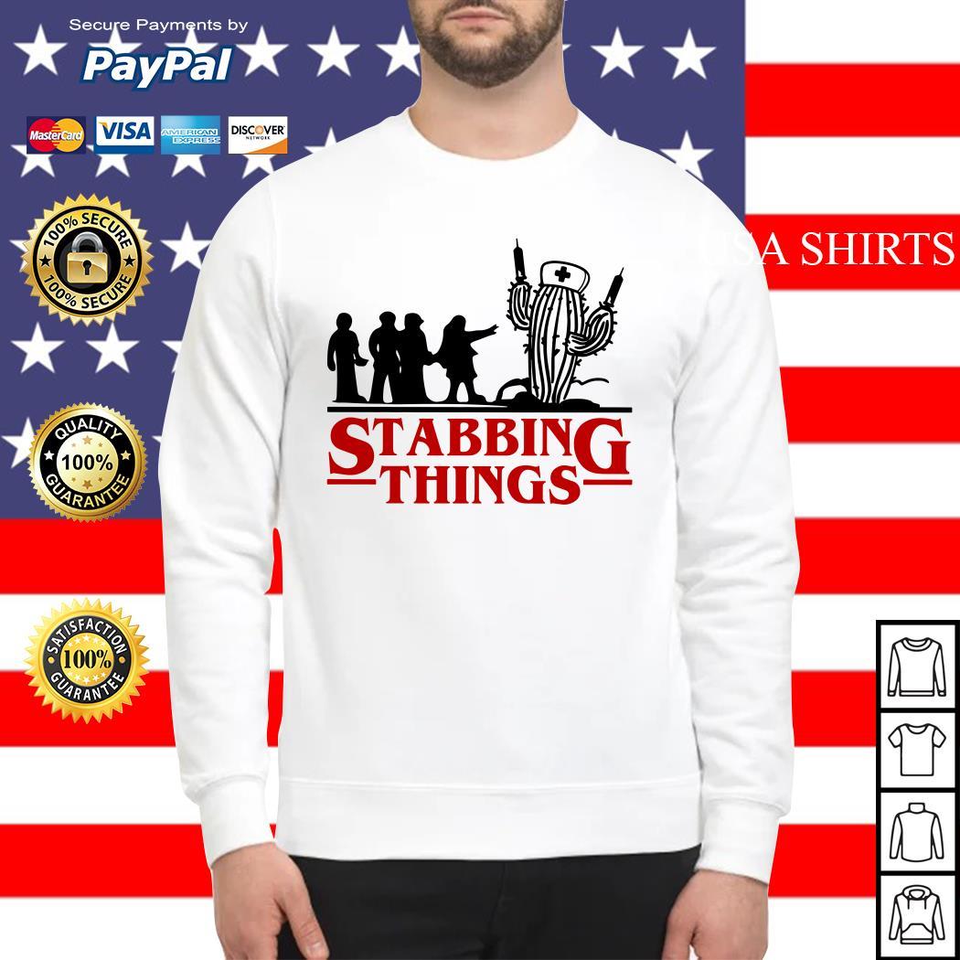 Stranger Things Stabbing Things nurse cactus Sweater