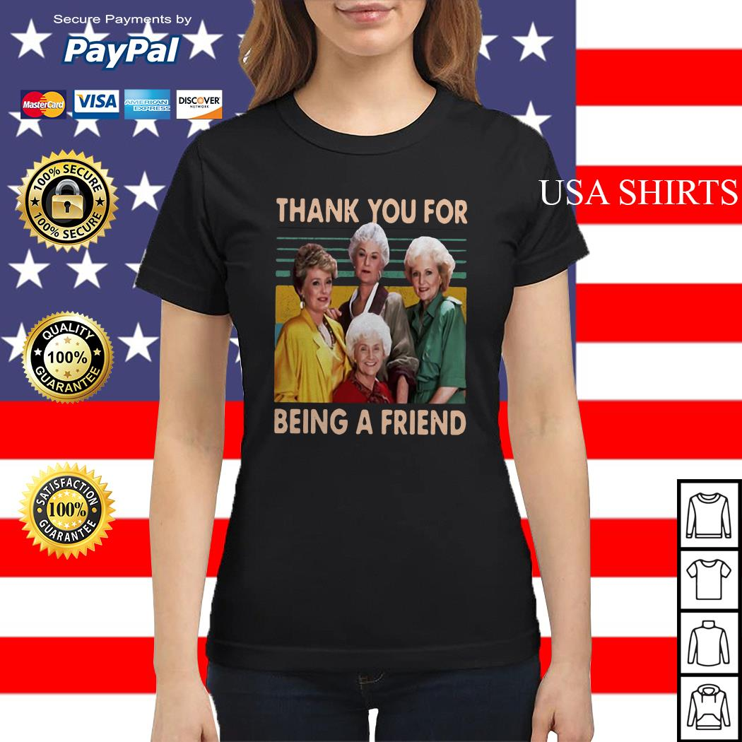The Golden Girls thank you for being a friend vintage Ladies tee