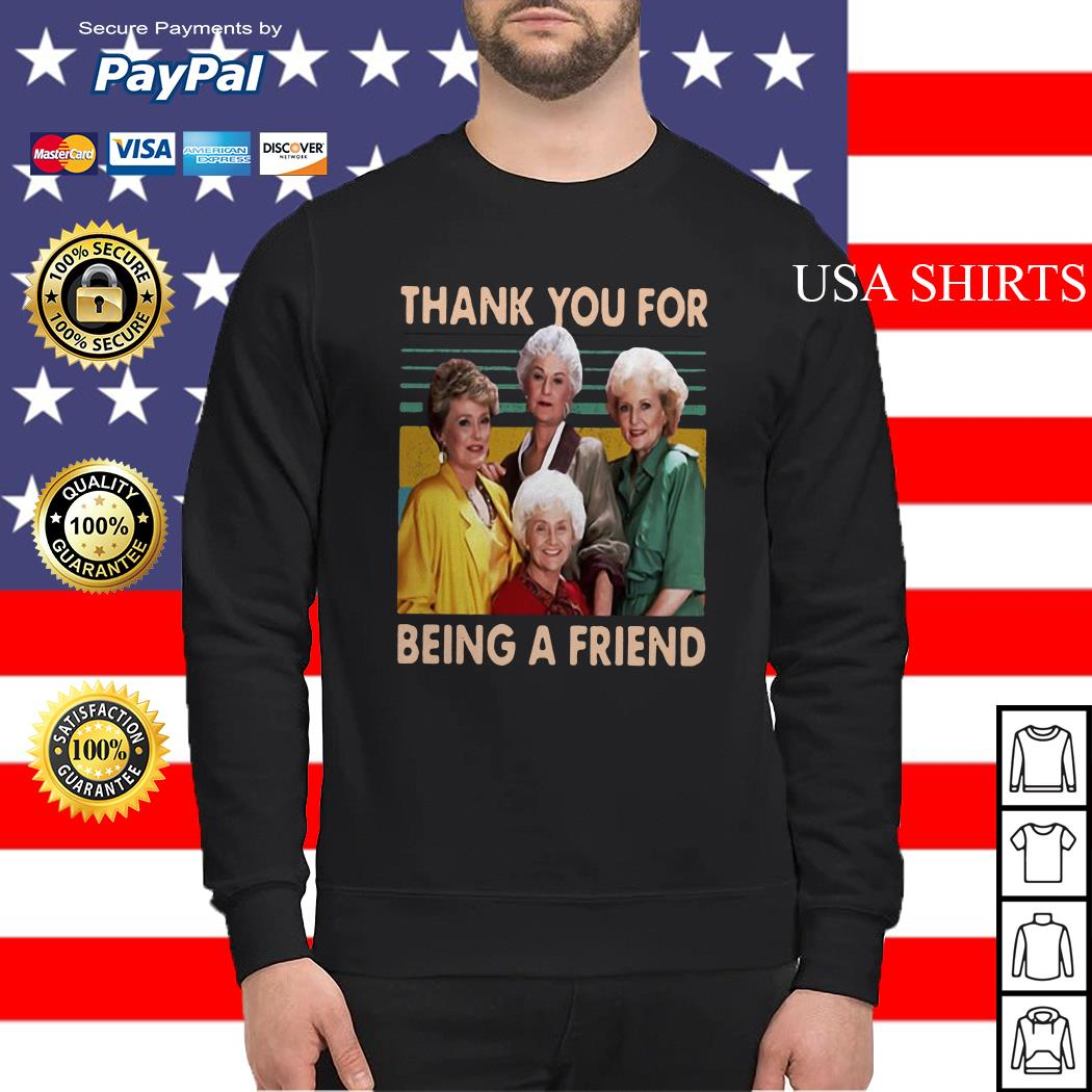The Golden Girls thank you for being a friend vintage Sweater
