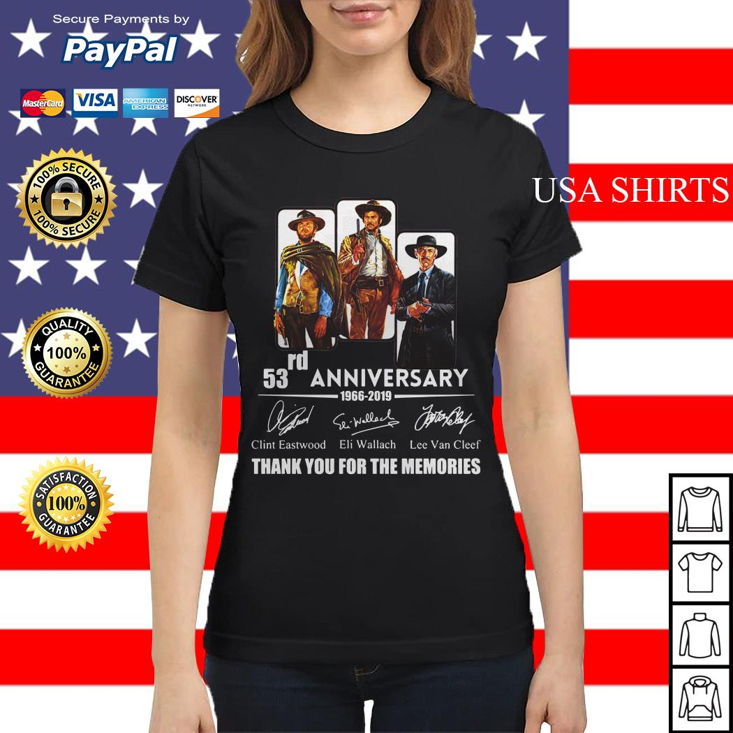 The Good the Bad and the Ugly 53rd anniversary 1966 2019 Ladies tee