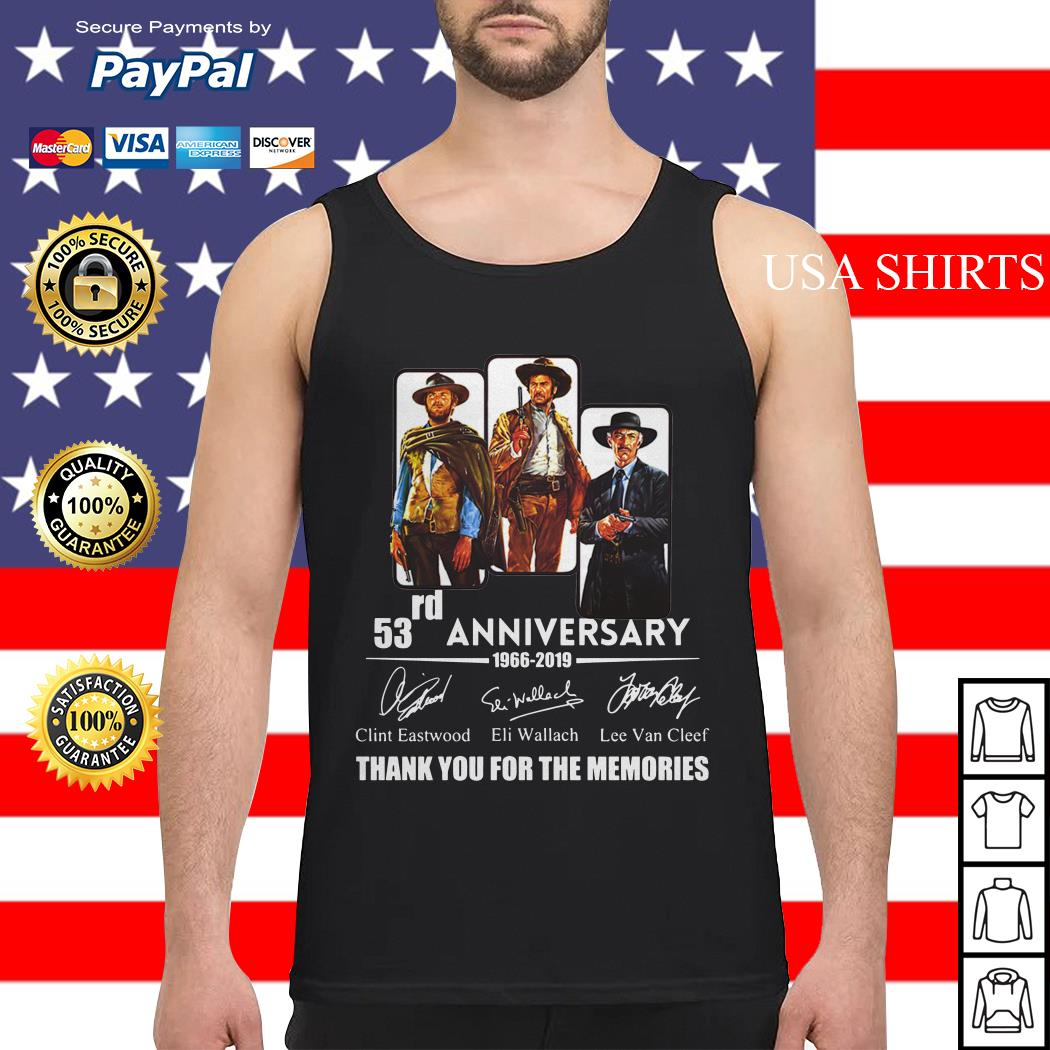 The Good the Bad and the Ugly 53rd anniversary 1966 2019 Tank top