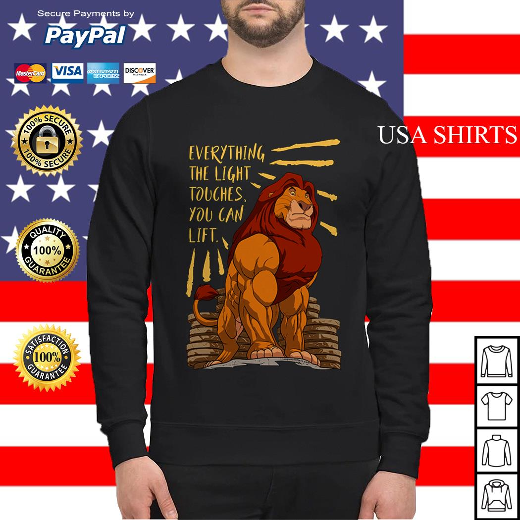 The Lion King Everything the light touches you can lift Mufasa Gymer Sweater