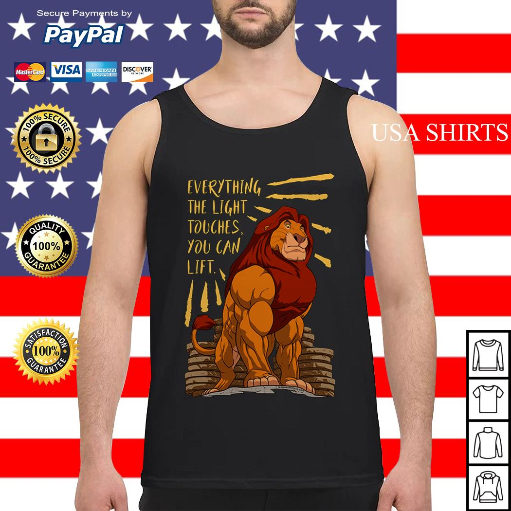 The Lion King Everything the light touches you can lift Mufasa Gymer Tank top