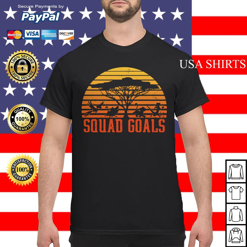 The Lion King Squad Goals sunset shirt