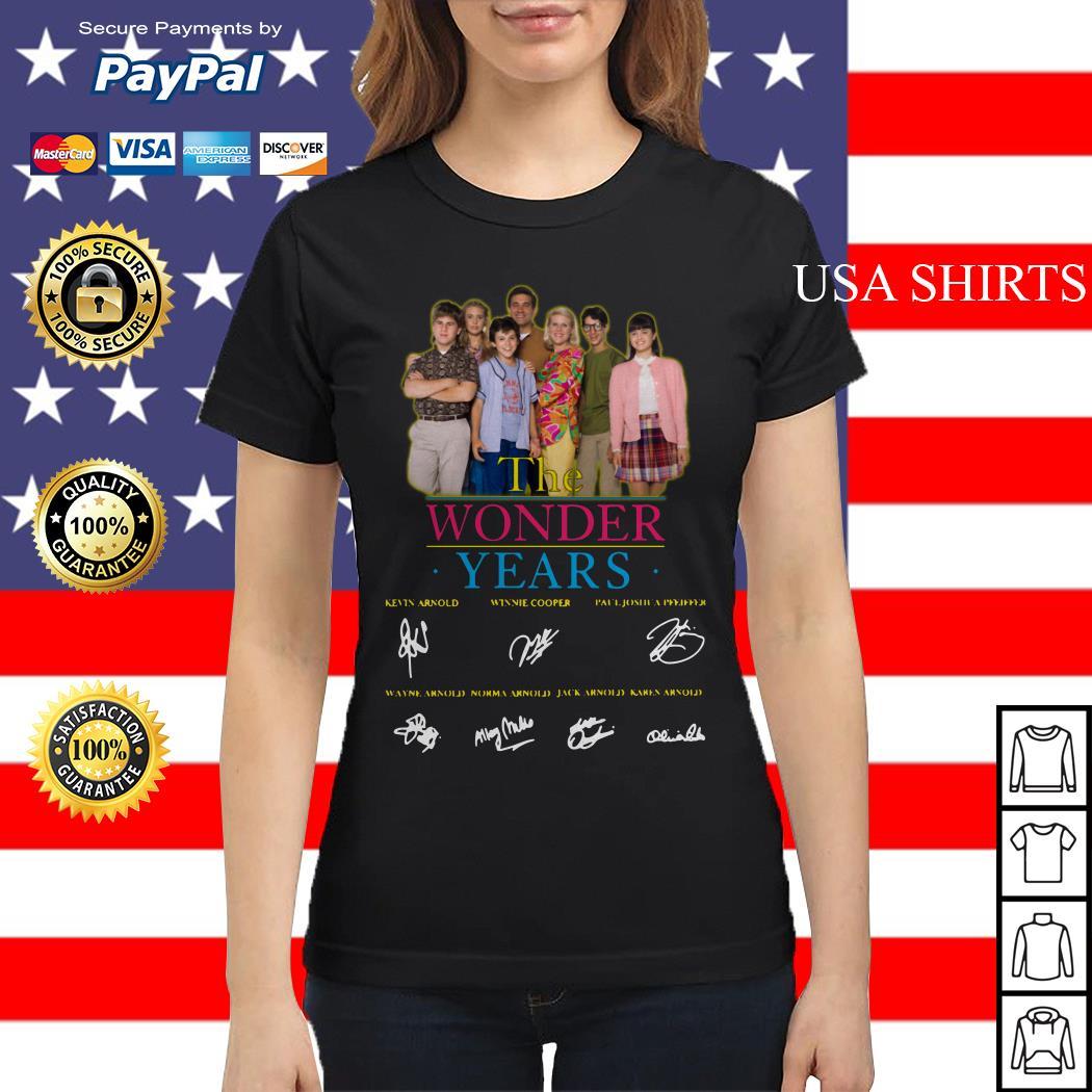The Wonder years characters signature Ladies tee