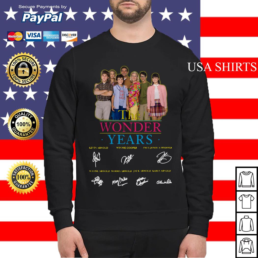 The Wonder years characters signature Sweater