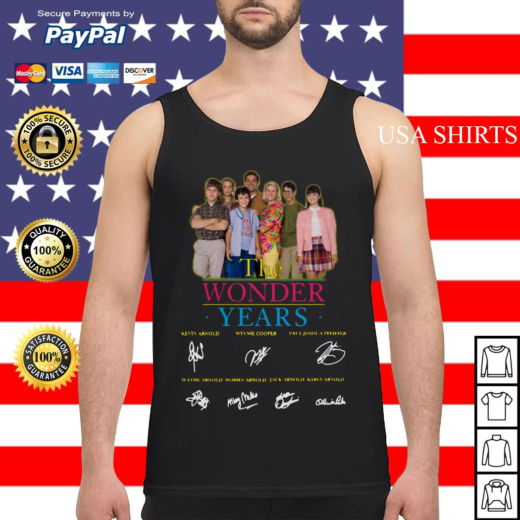 The Wonder years characters signature Tank top