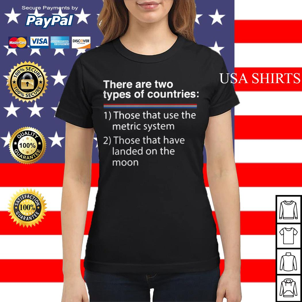 There are two types of counries those that use the metric system Ladies tee