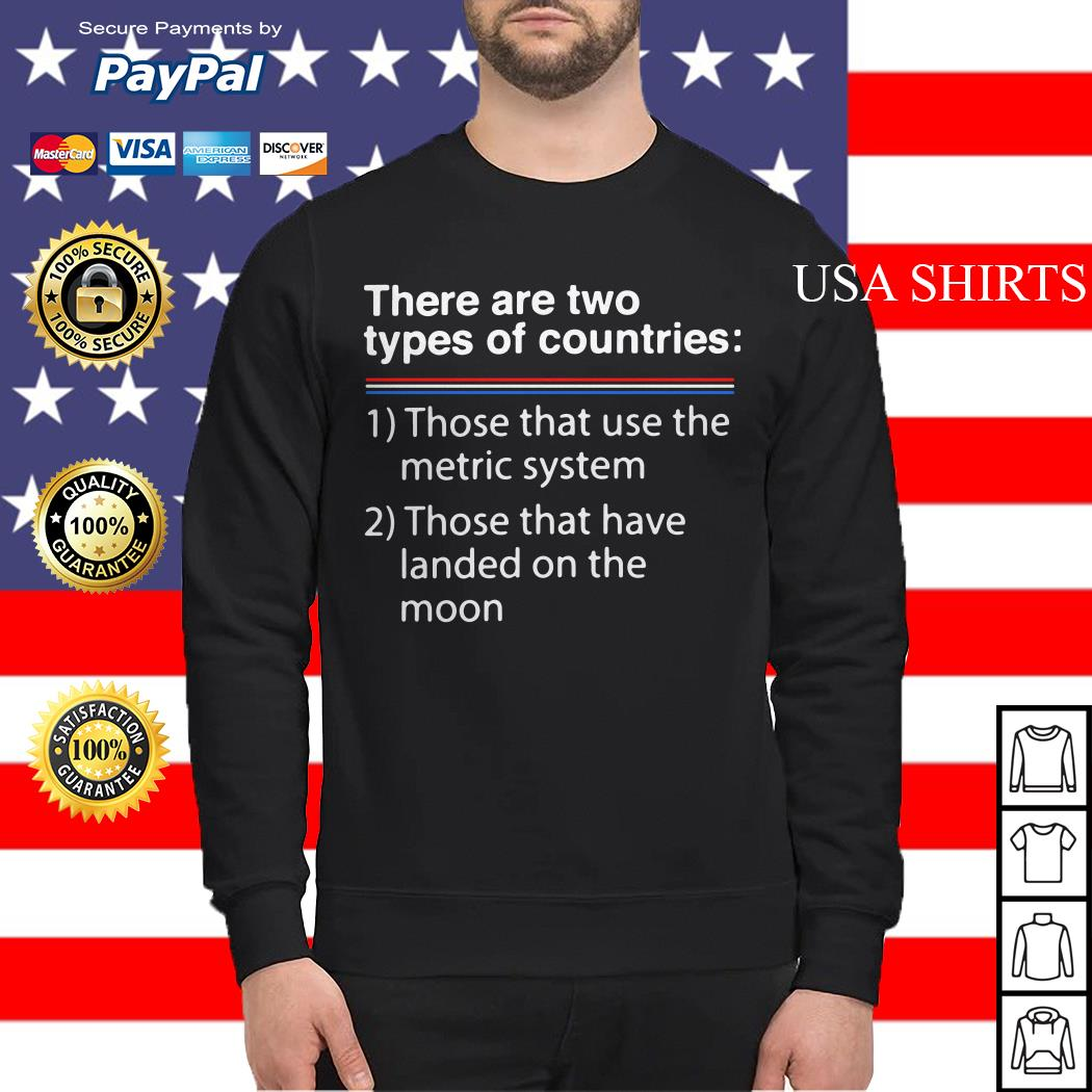 There are two types of counries those that use the metric system Sweater