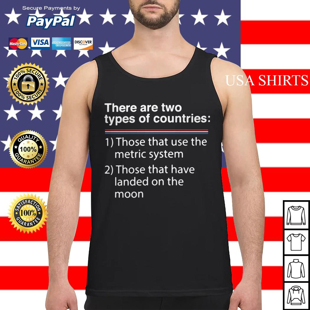 There are two types of counries those that use the metric system Tank top