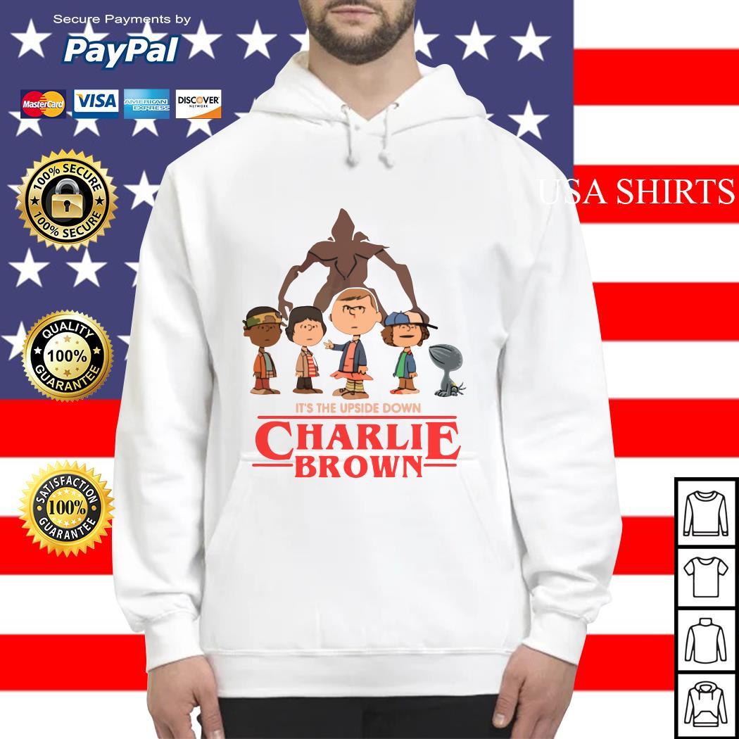 It's the upside down Charlie Brown Stranger Things Hoodie