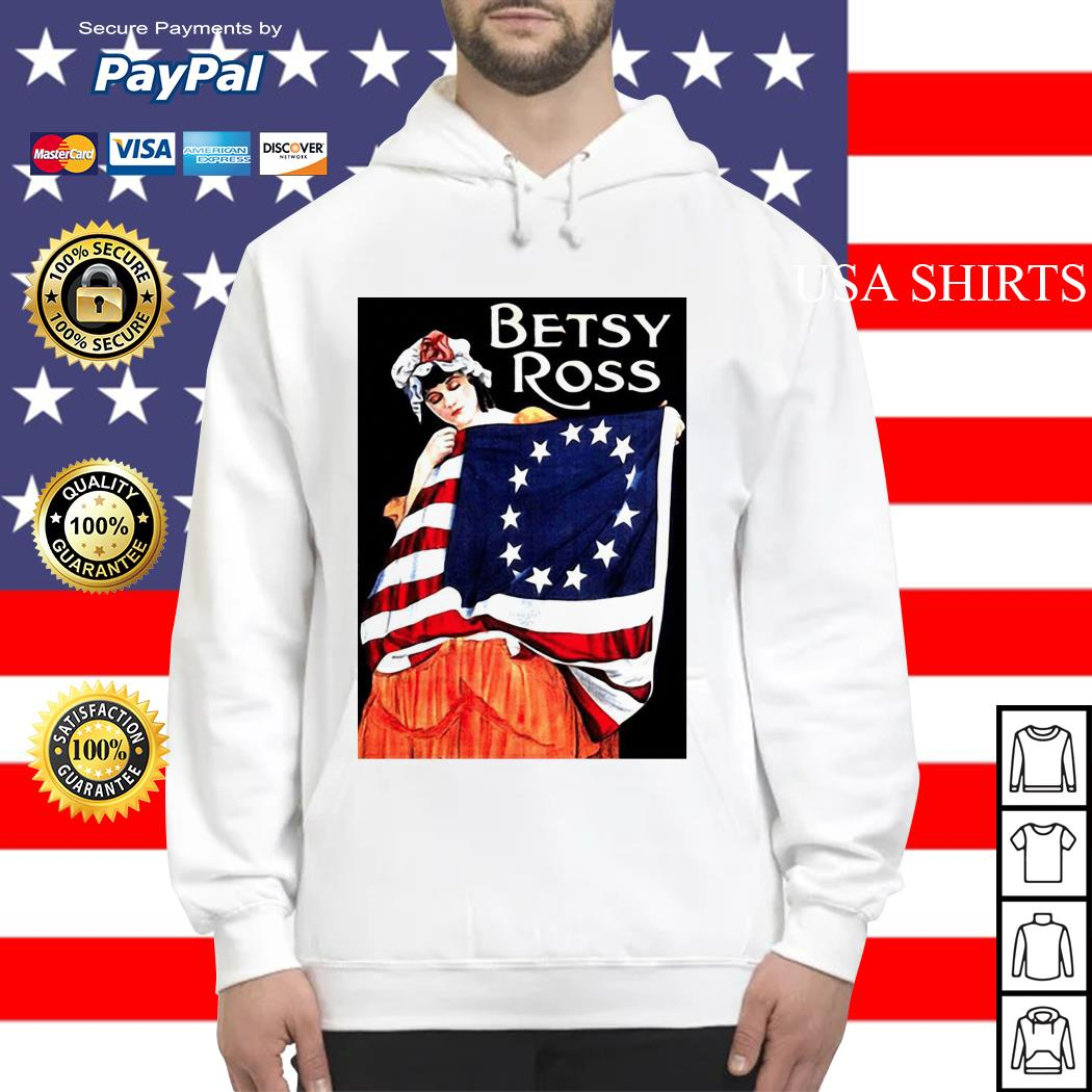USA Betsy Ross American Flag Hoodie