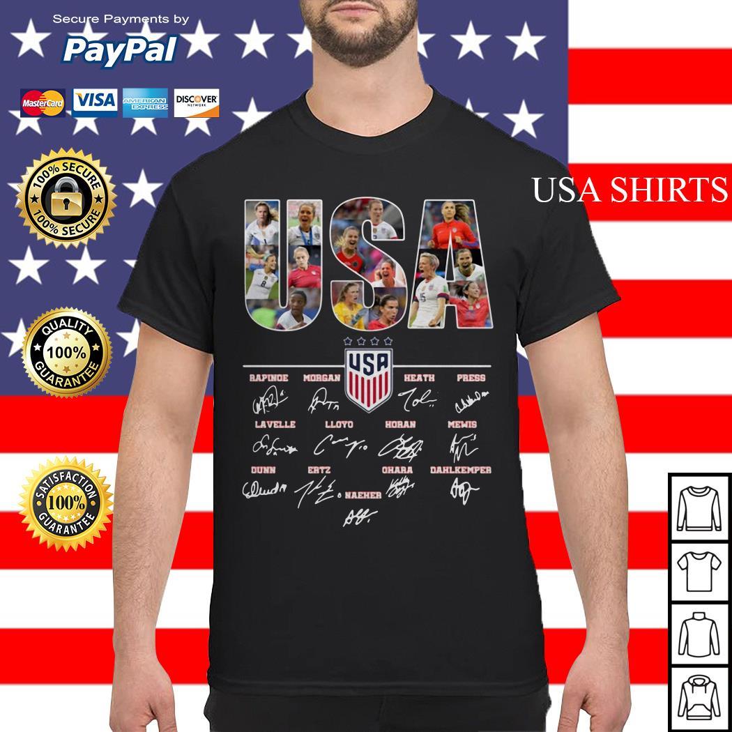 USA Soccer Team Member Name Signature shirt