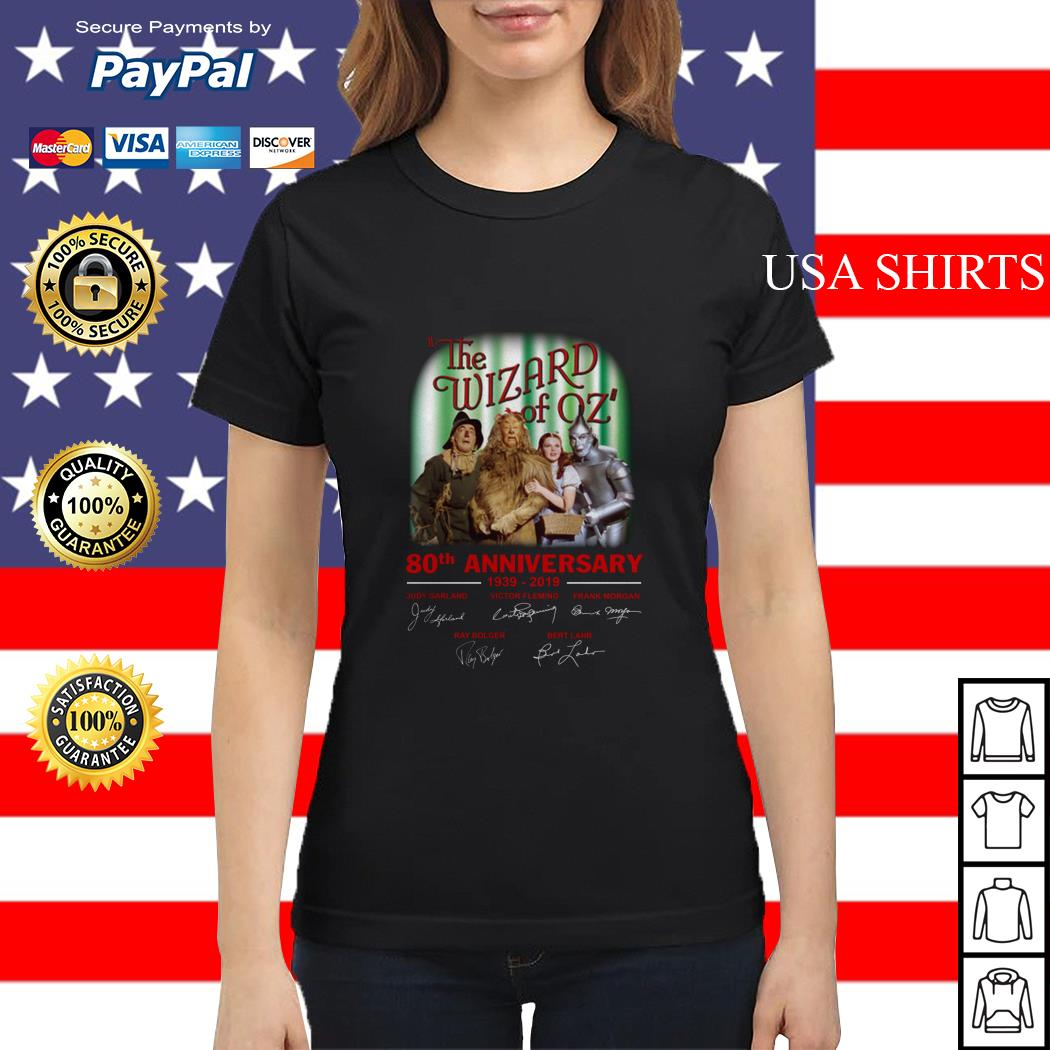 The wizard of oz 80th anniversary 1939-2019 signatures Ladies tee
