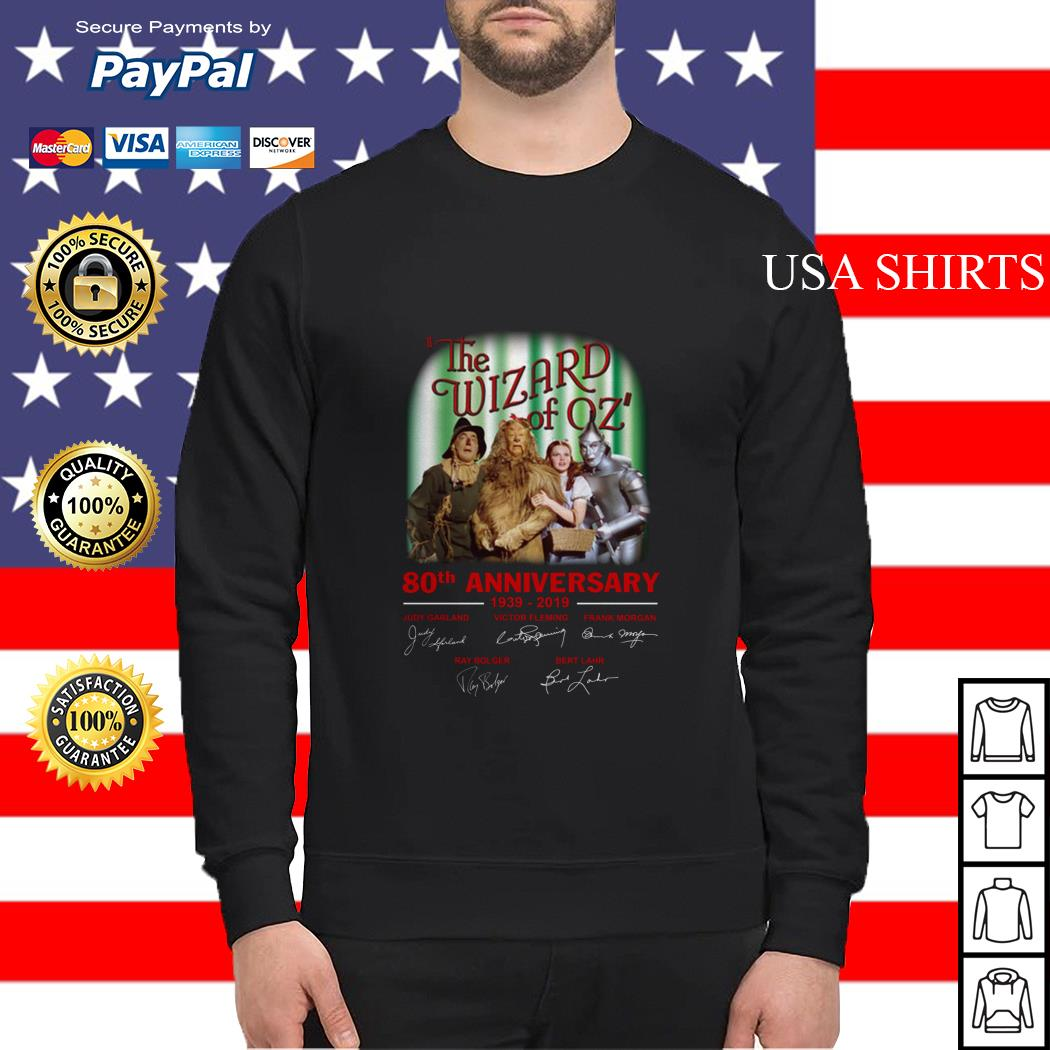 The wizard of oz 80th anniversary 1939-2019 signatures Sweater