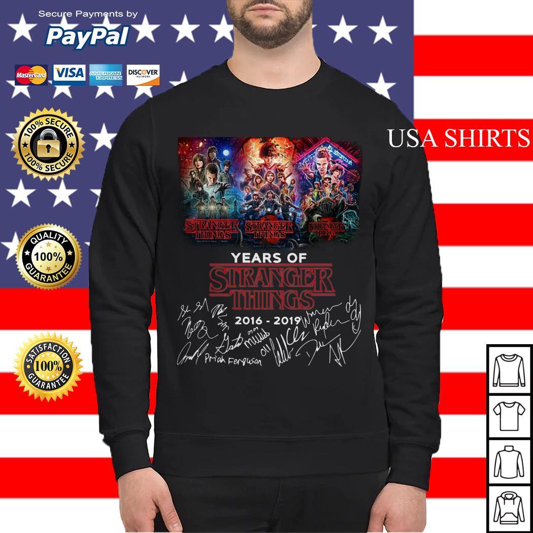 Years of Stranger Things 2016 2019 signature Sweater
