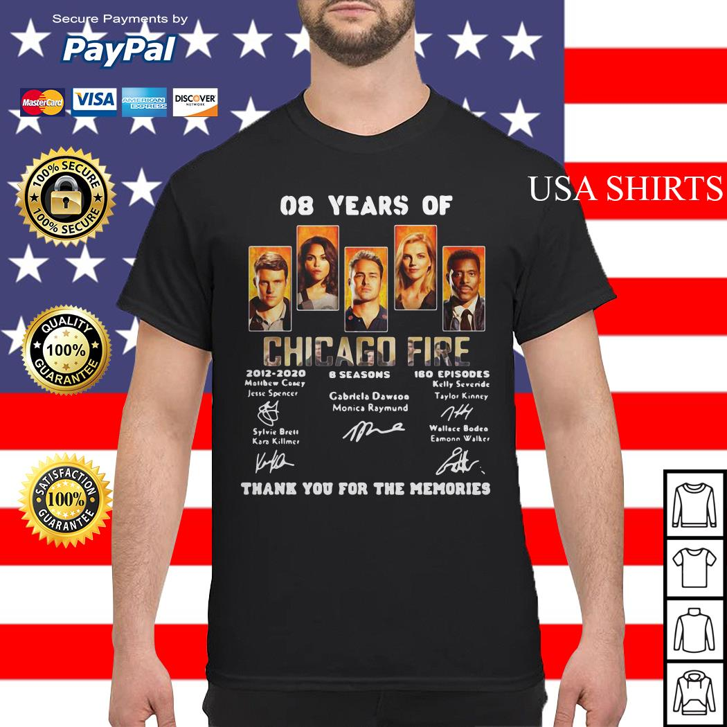 08 years of Chicago Fire thank you for the memories shirt