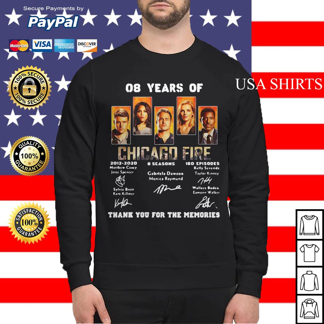 08 years of Chicago Fire thank you for the memories Sweater