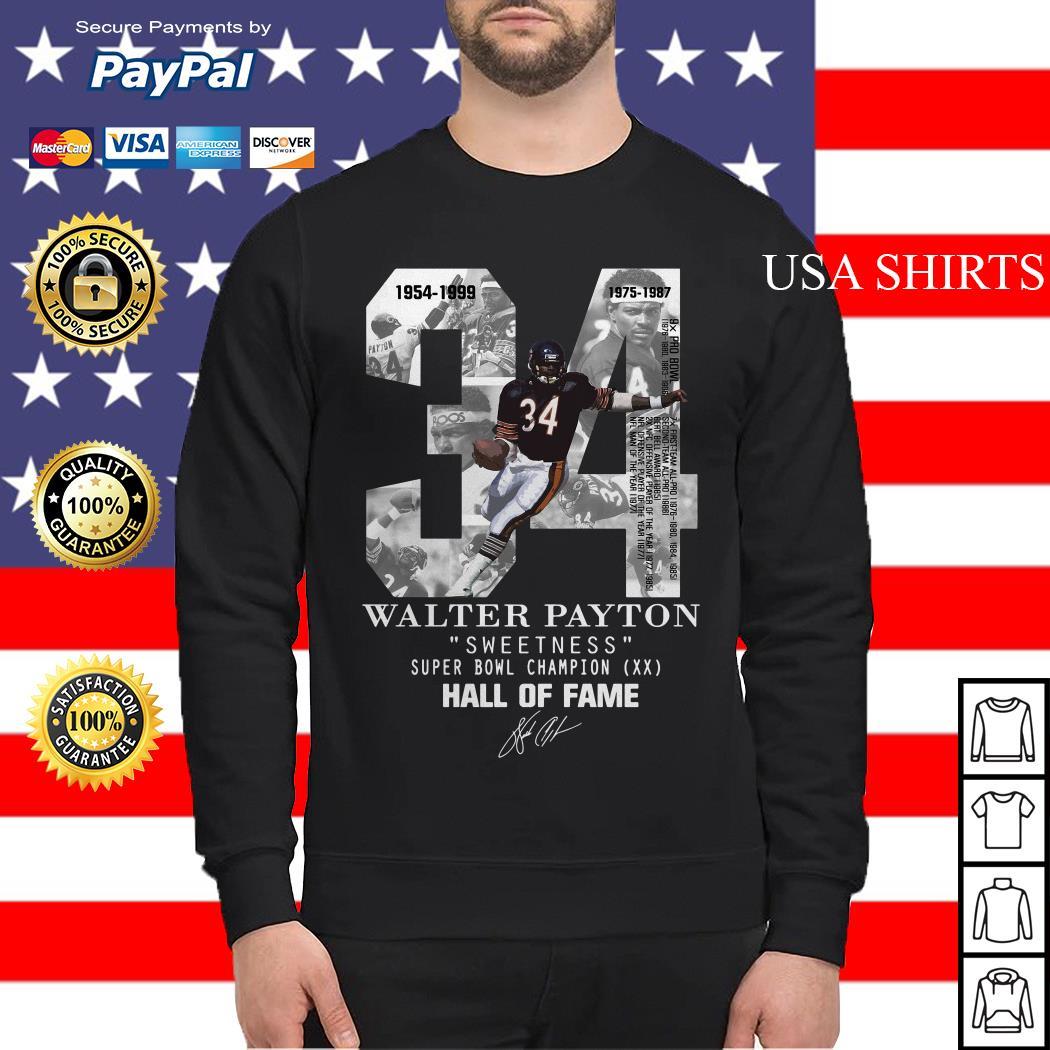 34 Walter Payton sweetness super bowl champion hall of fame Sweater