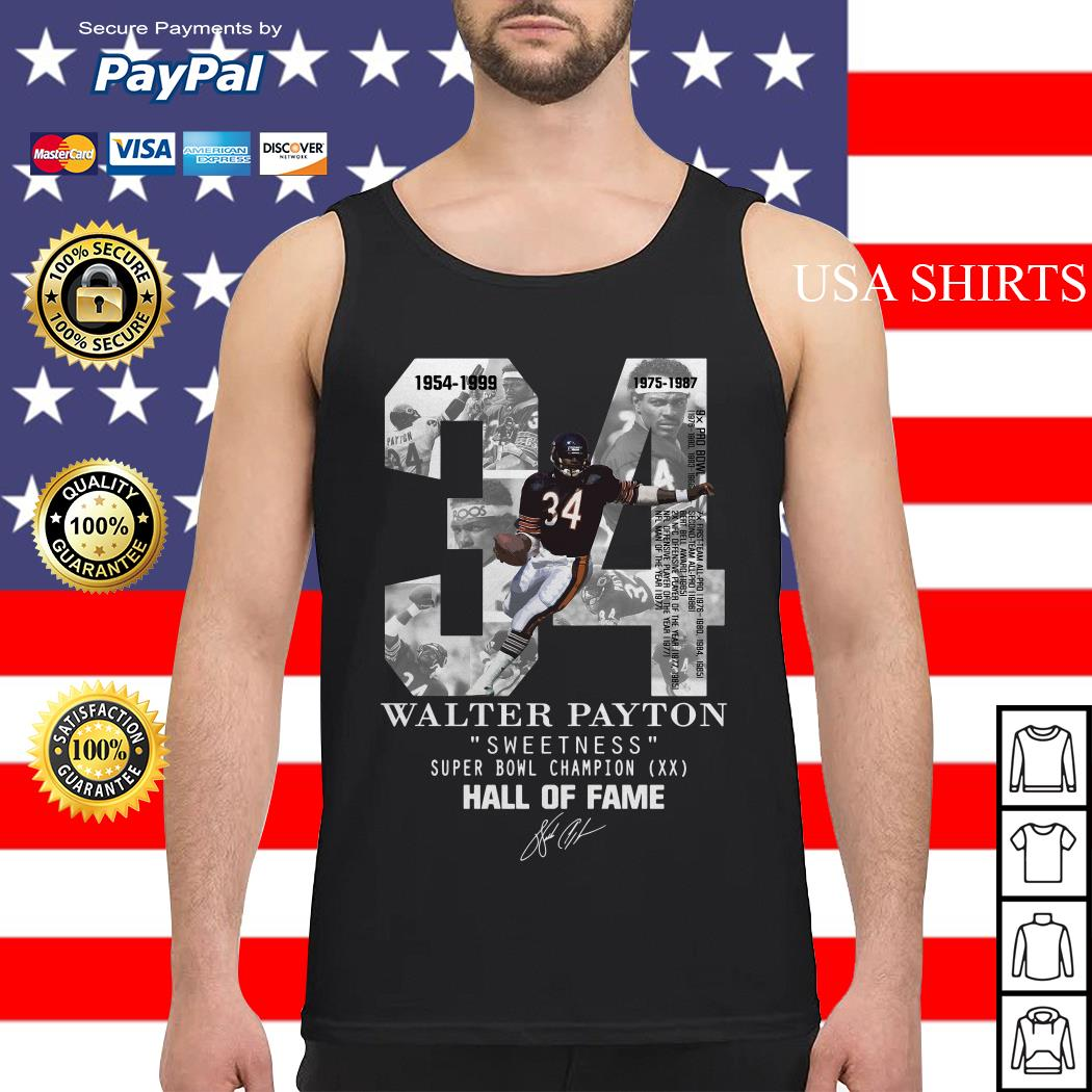 34 Walter Payton sweetness super bowl champion hall of fame Tank top