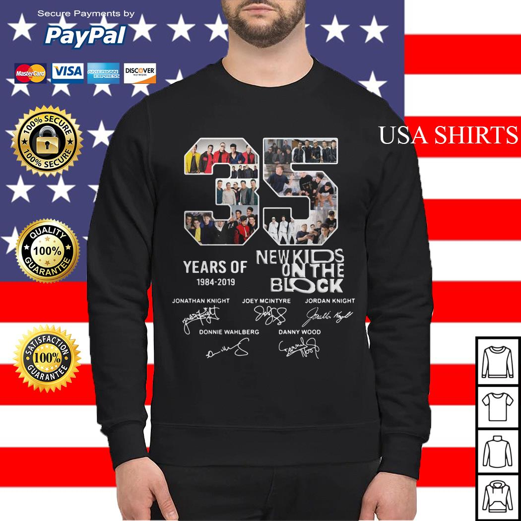 35 Years of 1984 2019 New Kids On The Block signature Sweater