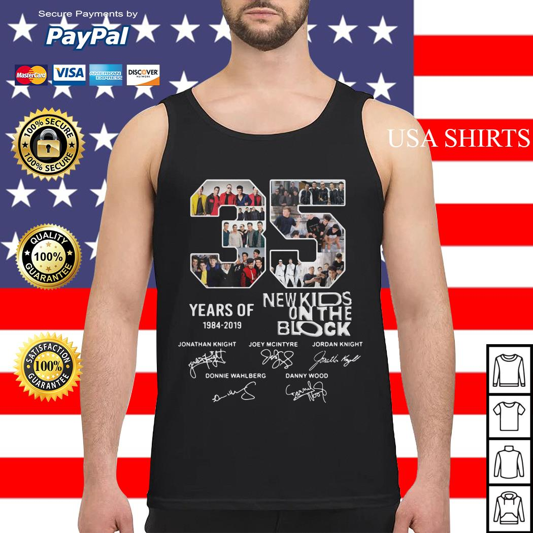 35 Years of 1984 2019 New Kids On The Block signature Tank top