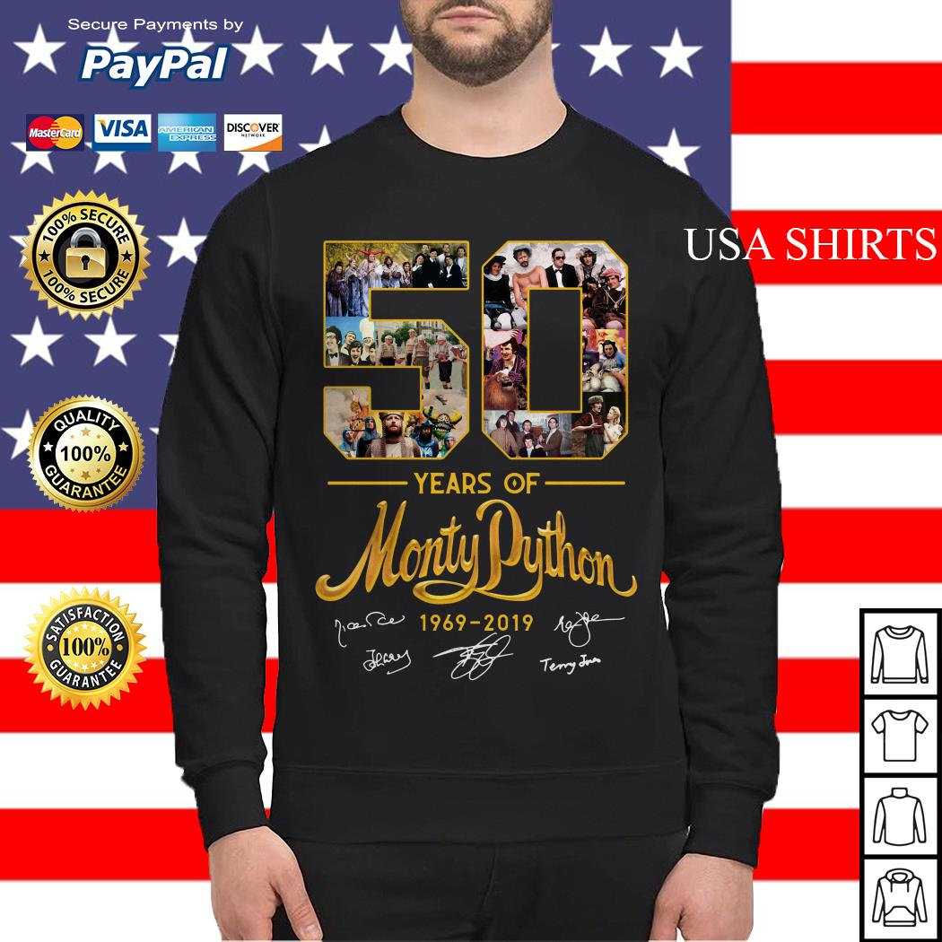 50 years of Monty Python 1969 2019 signature Sweater