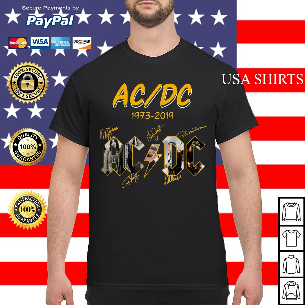 ACDC 1973 2019 signature shirt