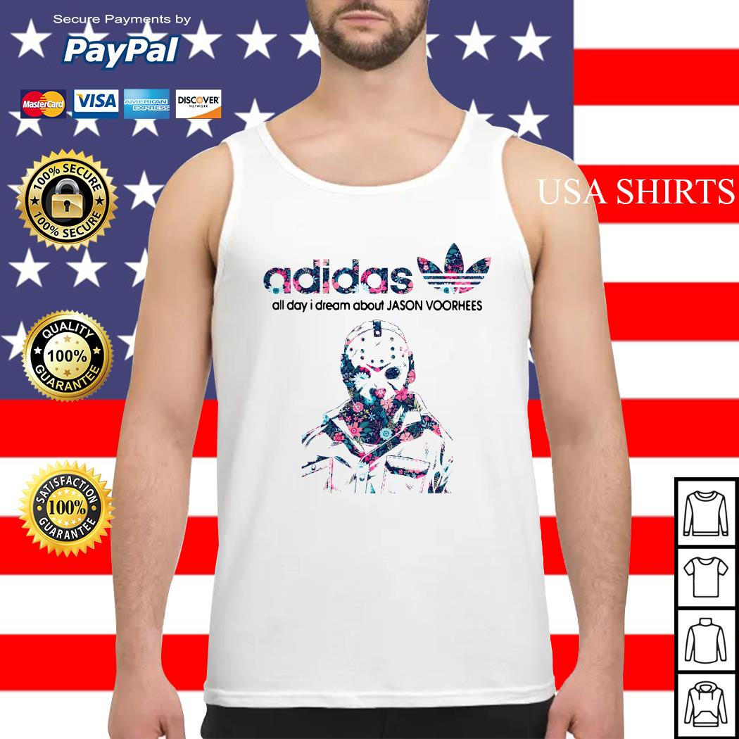 Adidas all day I dream about Jason Voorhees Tank top