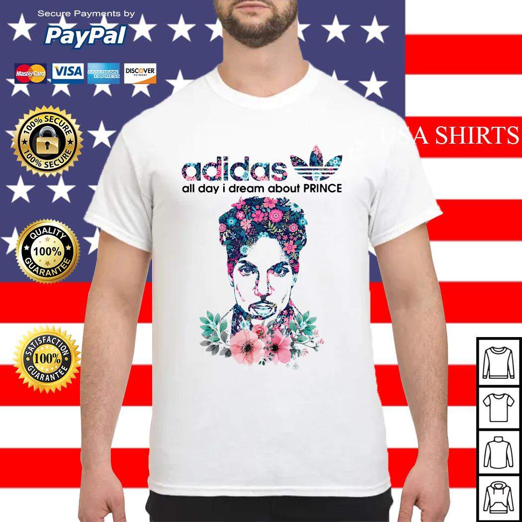 Adidas all day I dream about Prince Rogers Nelson shirt