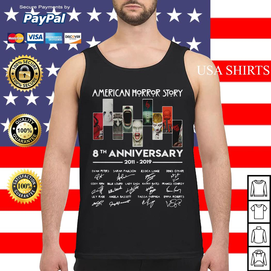 American horror story 8th anniversary 2011-2019 signature Tank top
