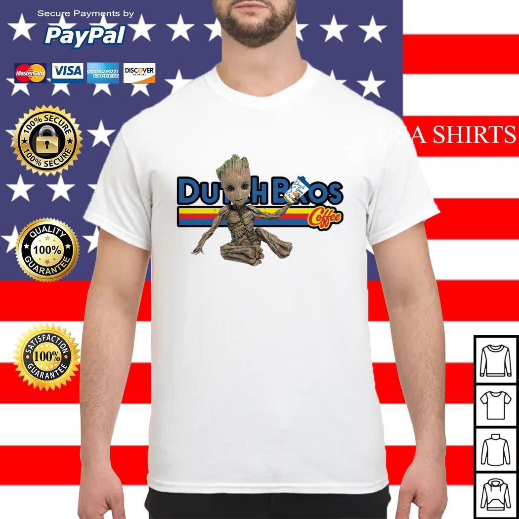 Baby Groot Dutch Bros coffee shirt