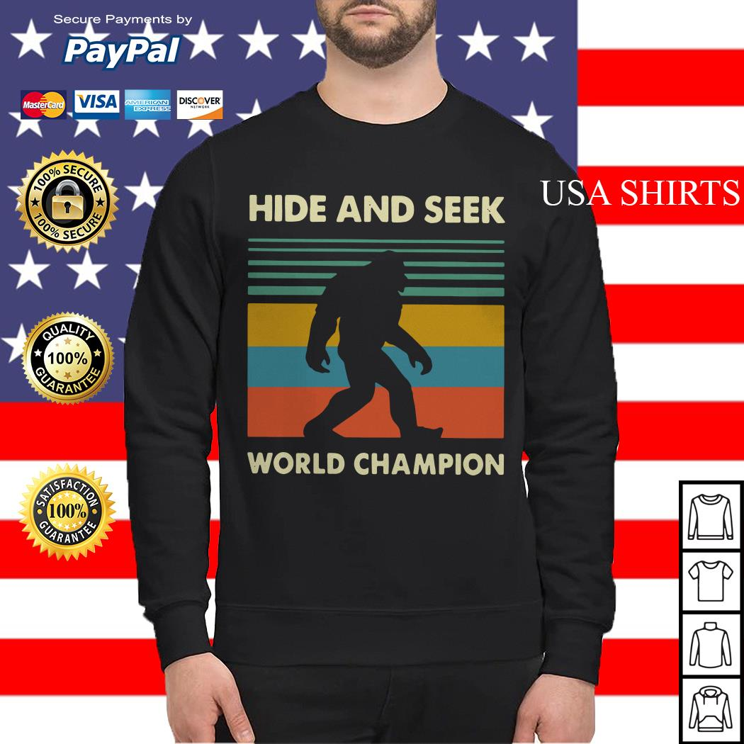 Bigfoot hide and seek world champion vintage Sweater