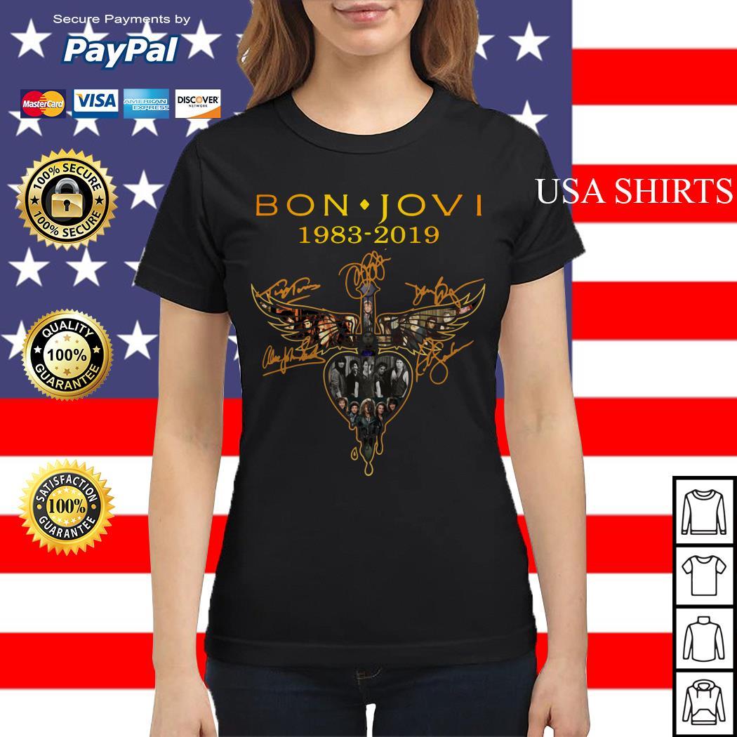 Bon Jovi 1983 2019 signature Ladies tee