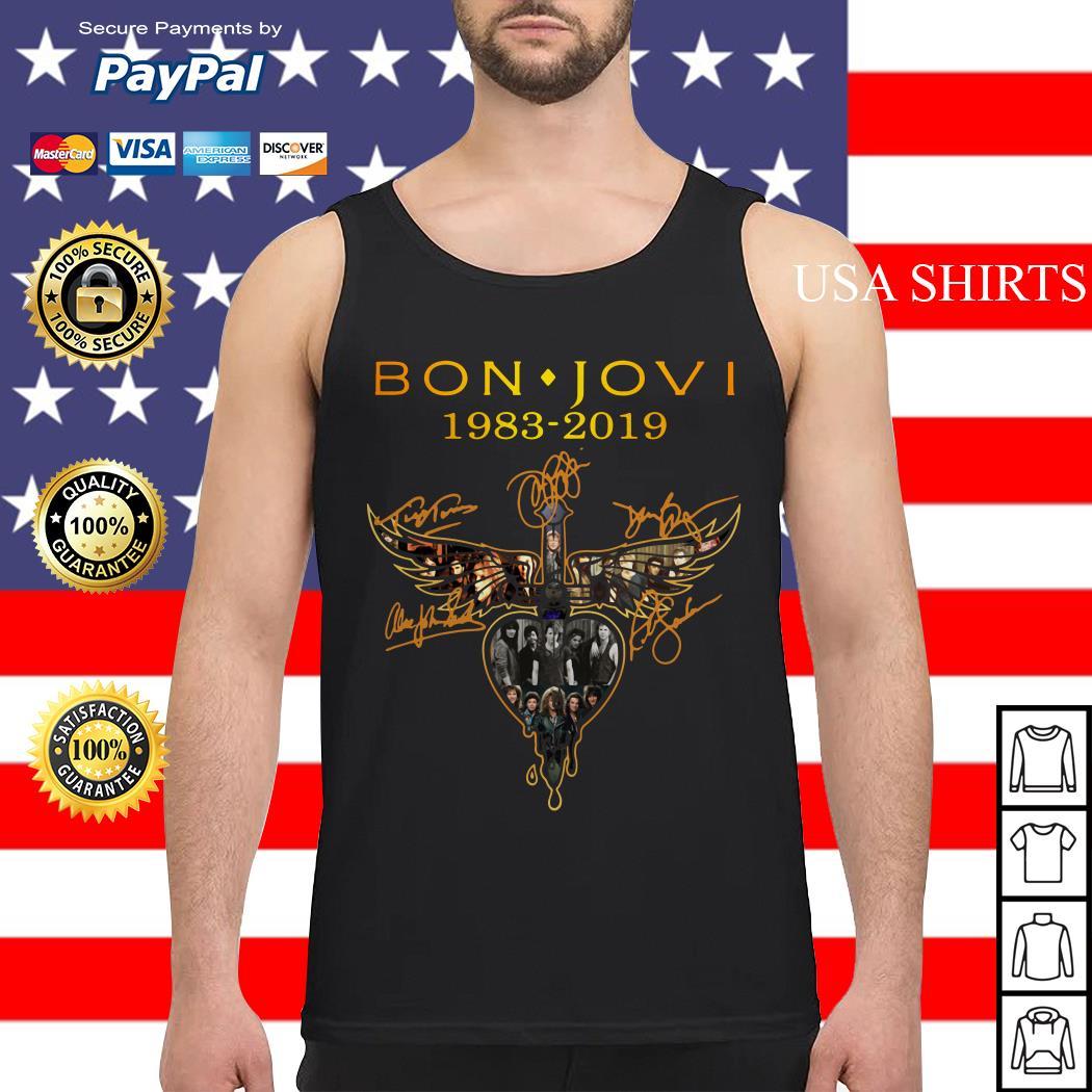 Bon Jovi 1983 2019 signature Tank top