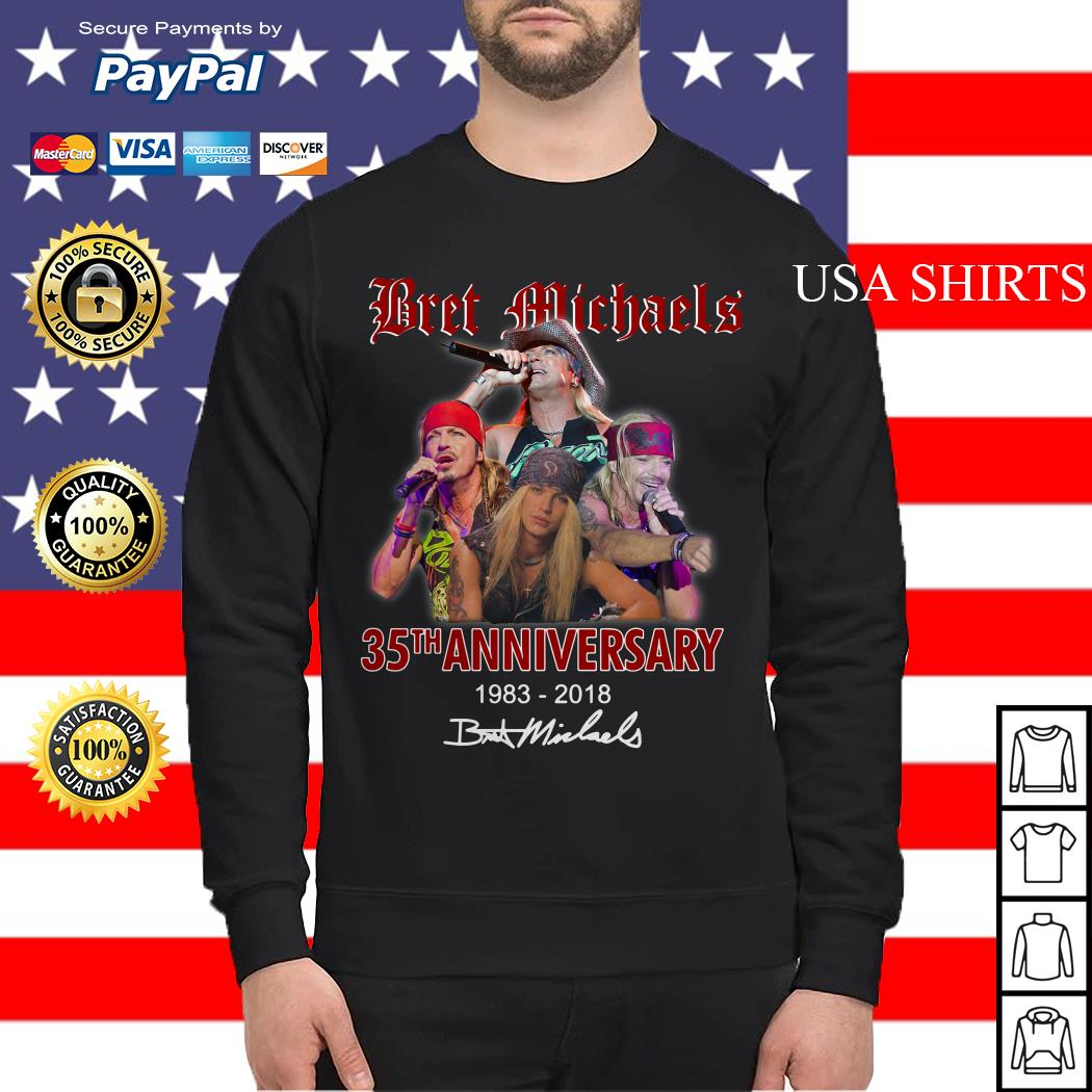 Bret Michaels 35th anniversary 1983 2018 Sweater