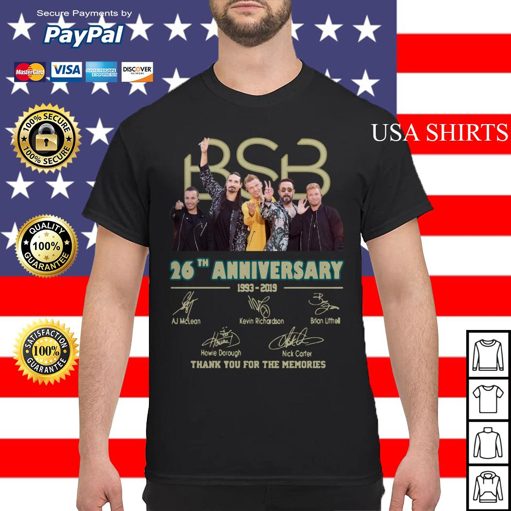 BSB 26th anniversary 1993 2019 signature thank you for the memories shirt