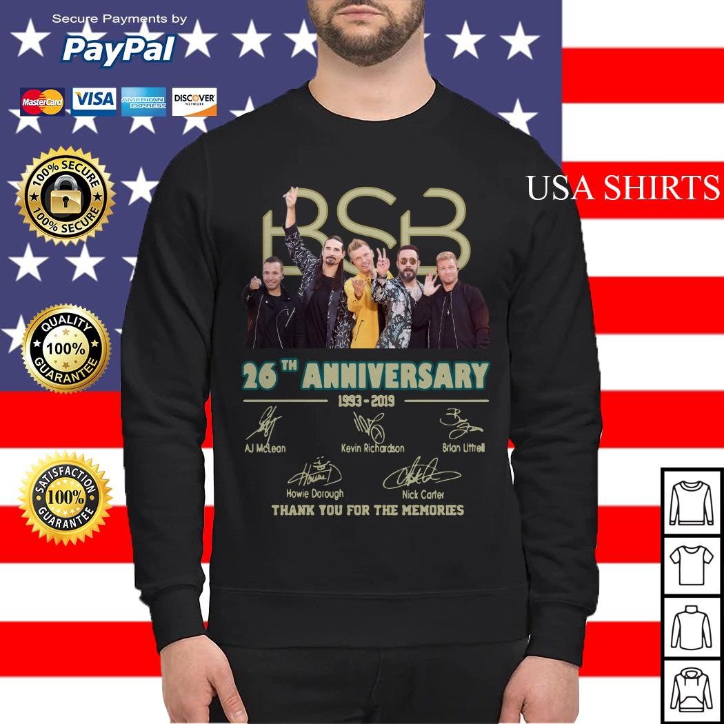 BSB 26th anniversary 1993 2019 signature thank you for the memories Sweater