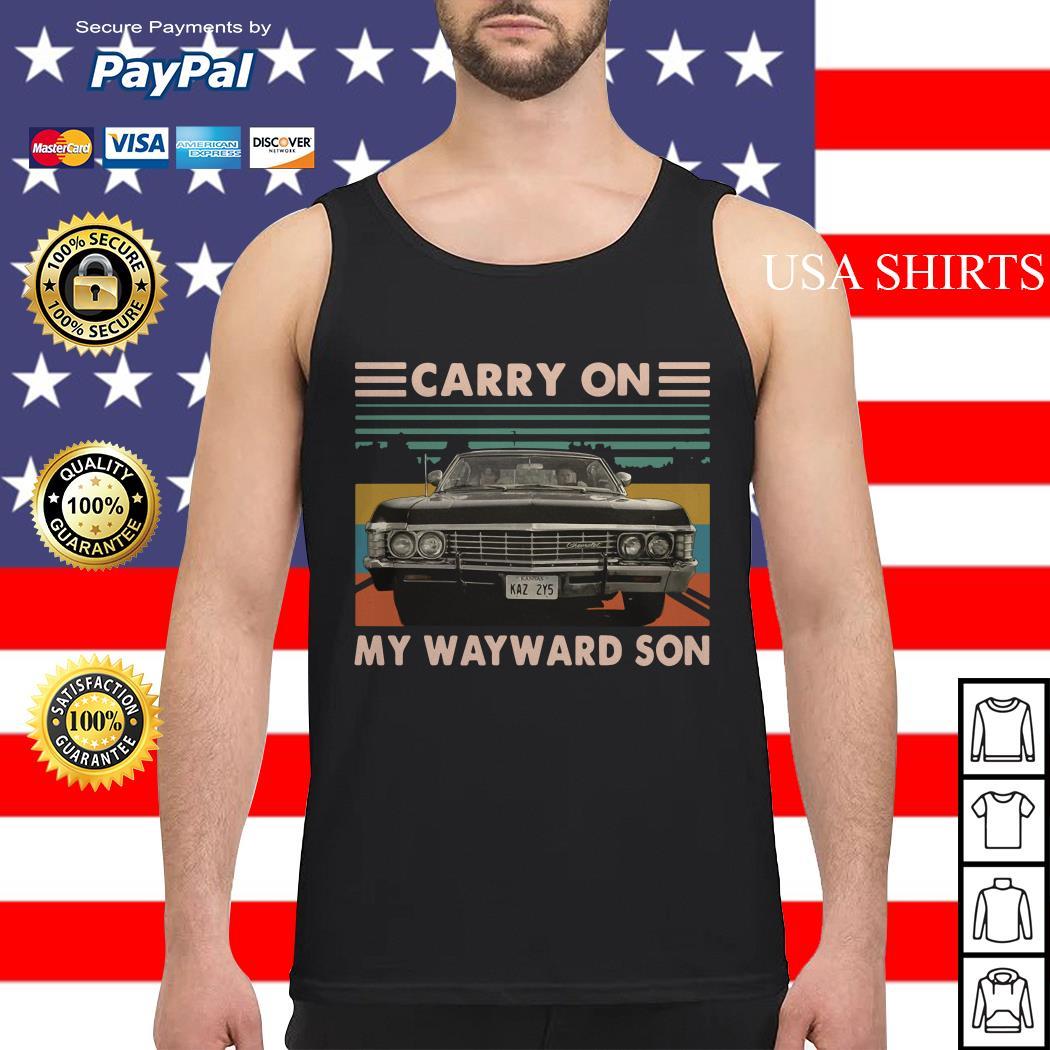 Carry on my wayward son car vintage Tank top