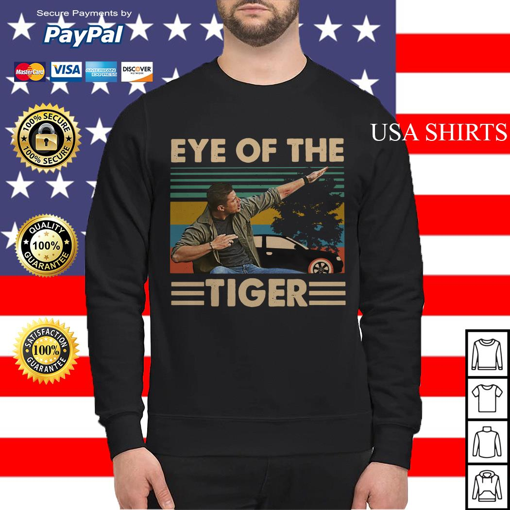 Dean Winchester Supernatural Eye of the tiger vintage Sweater
