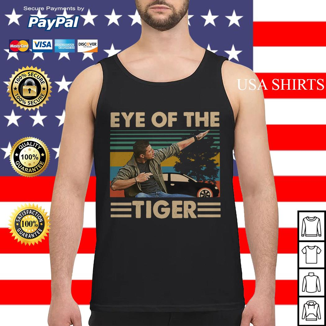 Dean Winchester Supernatural Eye of the tiger vintage Tank top