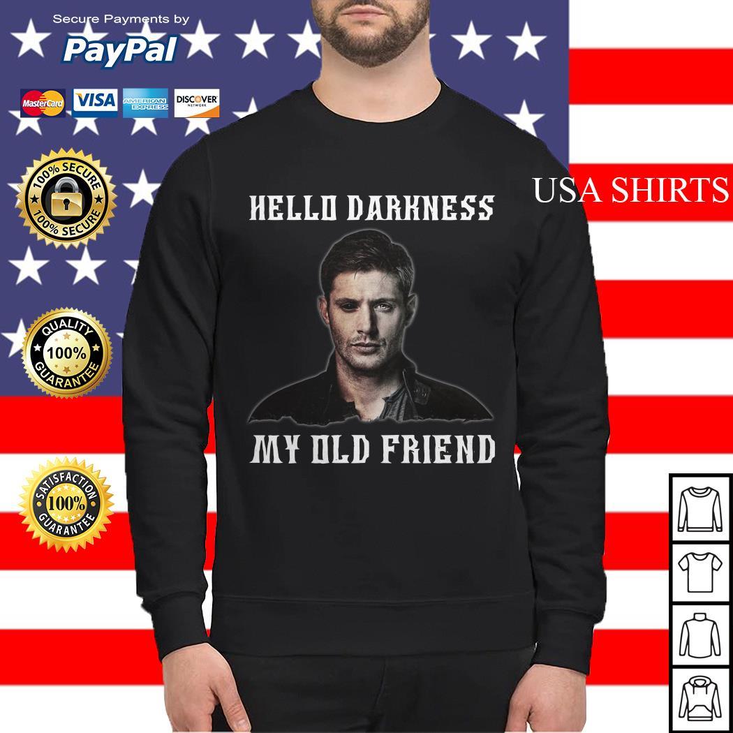 Deanmon Supernatural Hello Darkness my old friend Sweater