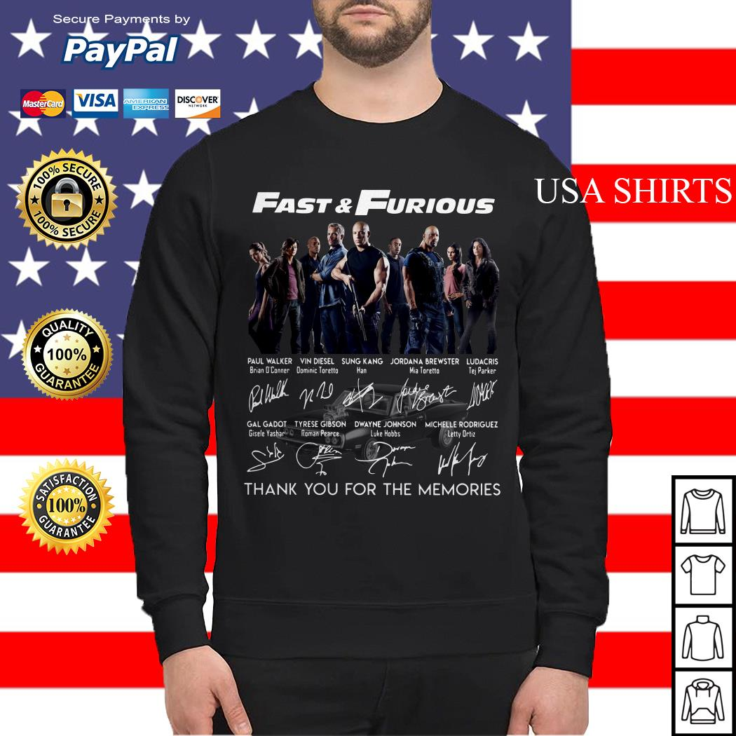 Fast and Furious signature thank you for the memories Sweater
