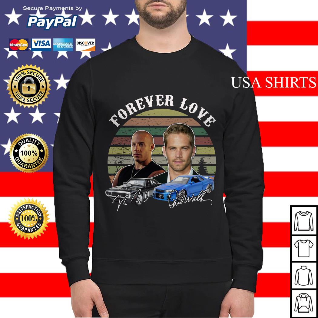 Forever Love Fast and Furious vintage signature Sweater