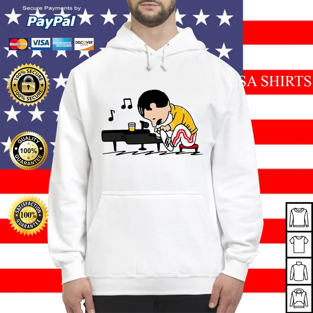 Freddie Mercury in the form of Schroeder playing piano Hoodie