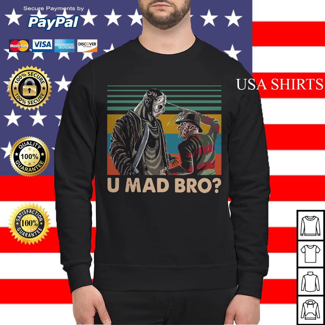 Freddy Krueger and Jason Voorhees U Mad Bro Vintage Sweater