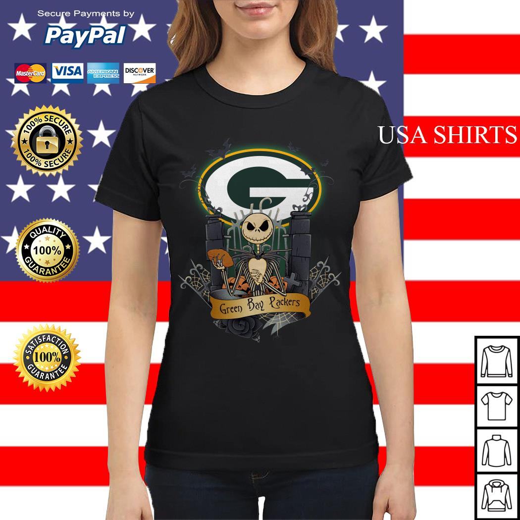Green Bay Packers Jack Skellington this is Halloween NFL Ladies tee